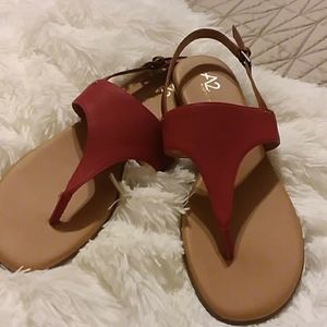Sweet ❤A2 by AEROSOLES Art Chlub Sandals Red 12M